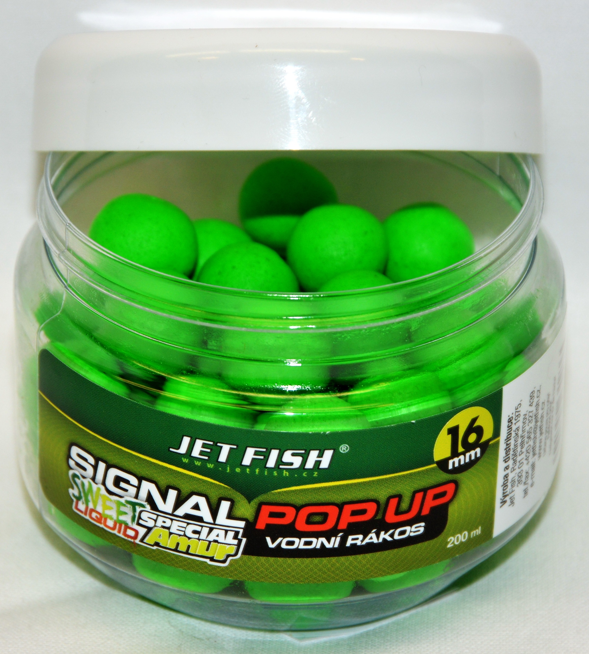 JET FISH Fluoro POP UP LÚČNA TRÁVA 16 mm