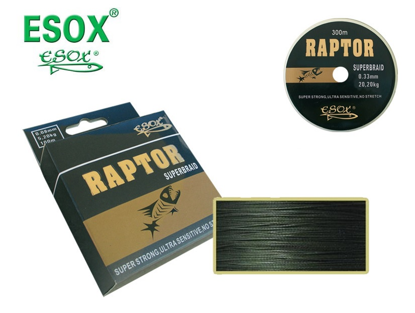 ESOX Raptor Superbraid Dyneema 250 m/ 0,80 mm