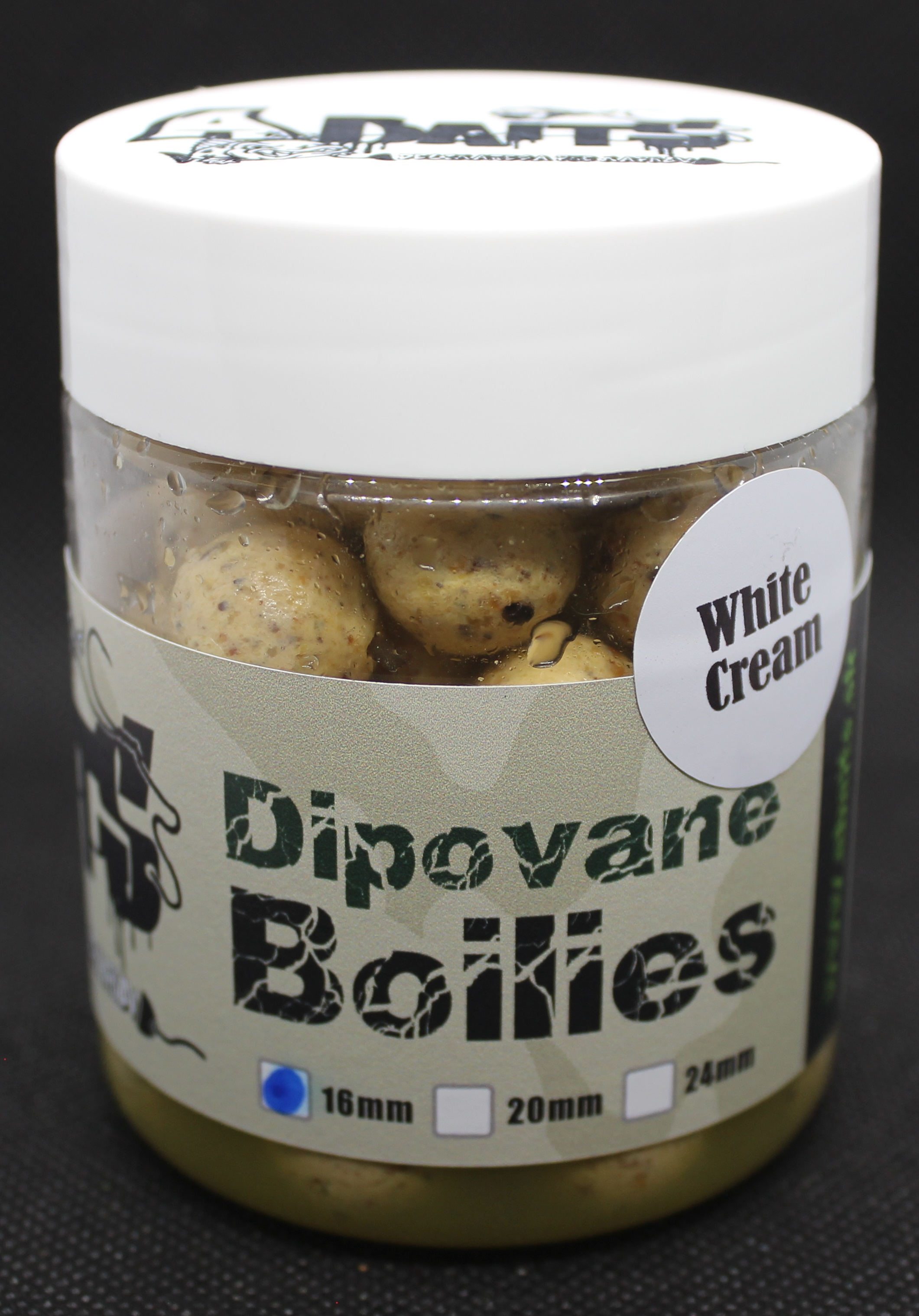 A baits Dipované boilies WHITE CREAM 16 mm