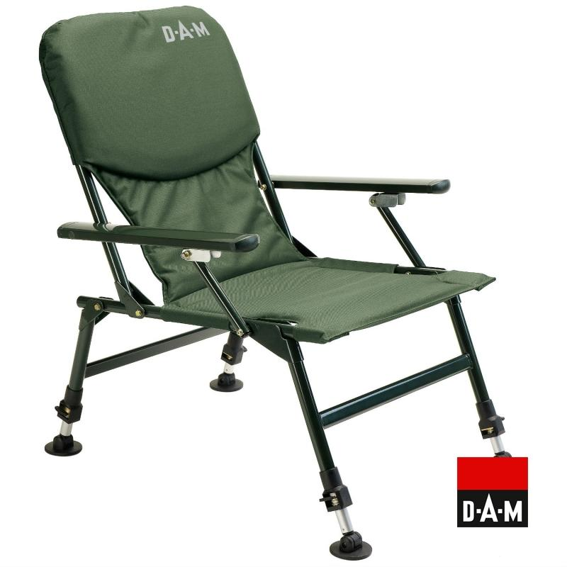 D.A.M. Chair with armrests steel stolička