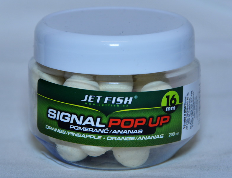 JET FISH Fluoro POP UP POMARANČ/ANANÁS