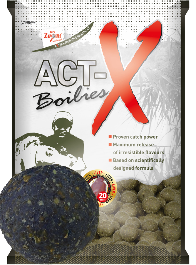 CARP ZOOM Act-X Boilies Plum (slivka) 16 mm