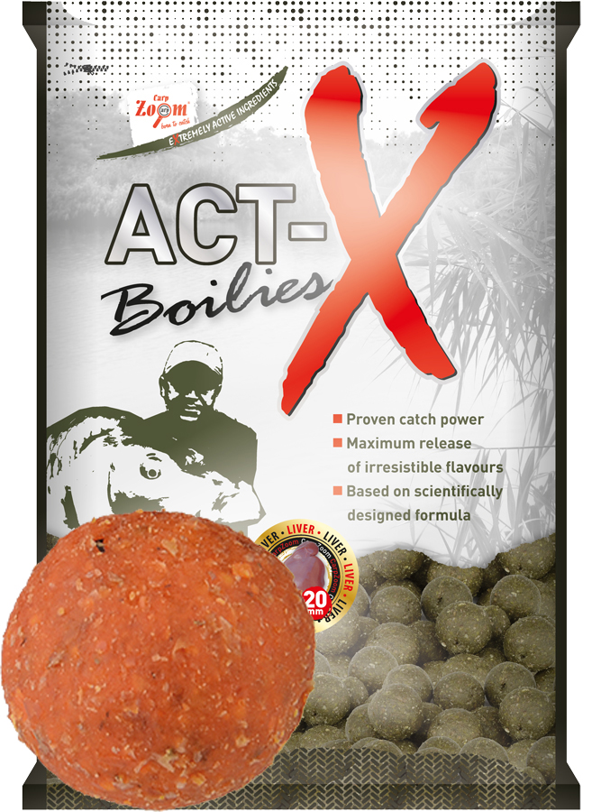 CARP ZOOM Act-X Boilies Exotic Fruits (exotické ovocie) 16 mm