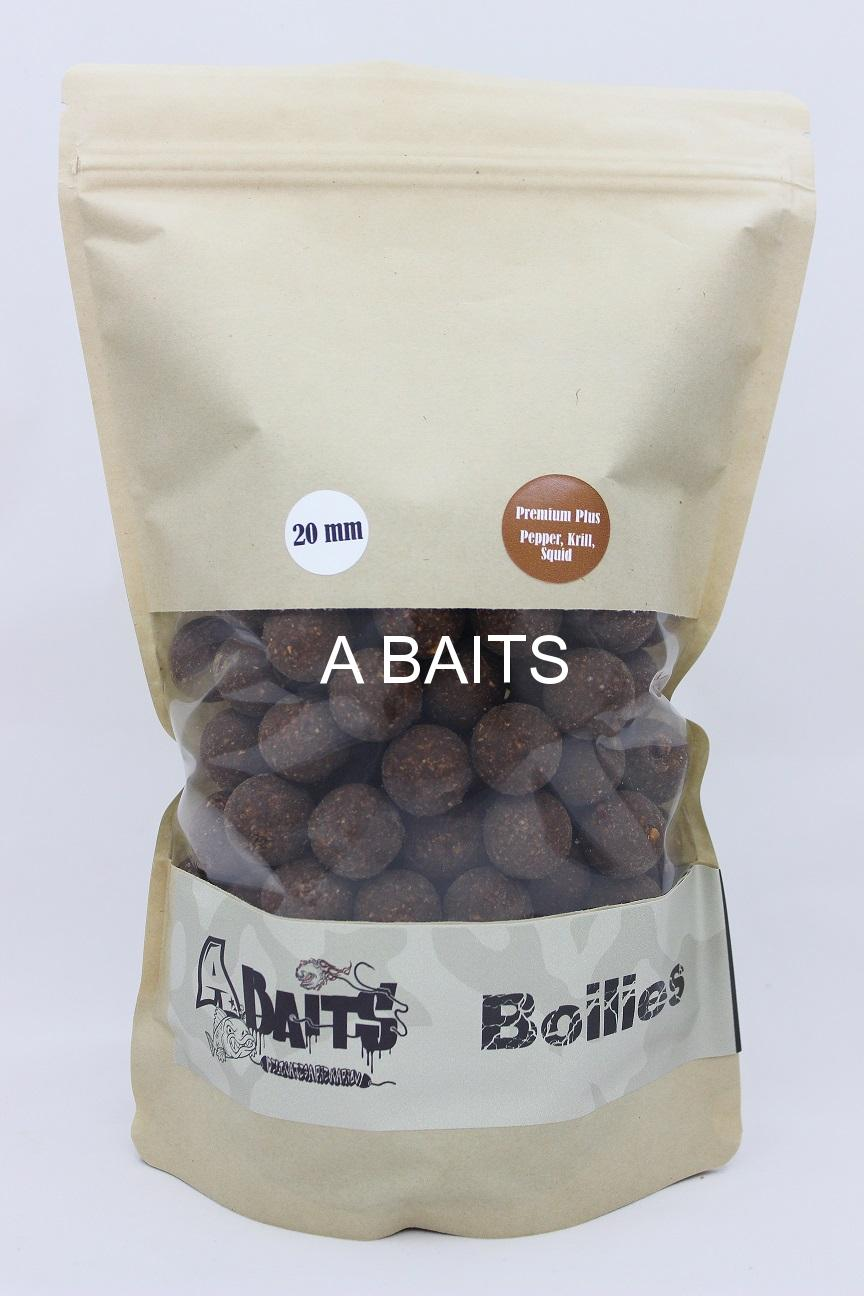 A baits Premium Plus - KRILL-SQUID-PEPPER 20mm