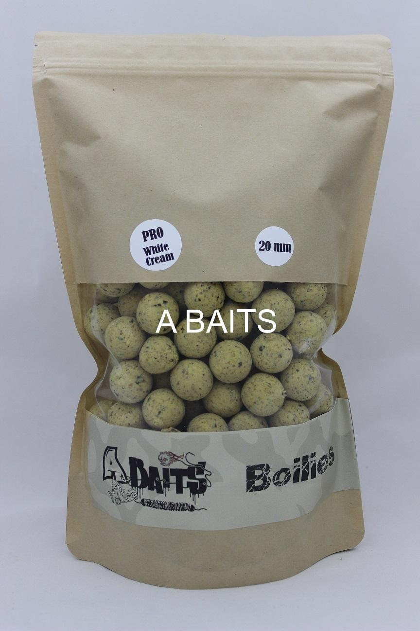 A baits PRO Boilies WHITE CREAM 20 mm